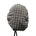 Ear Relief Bouffant Cap (Houndstooth)