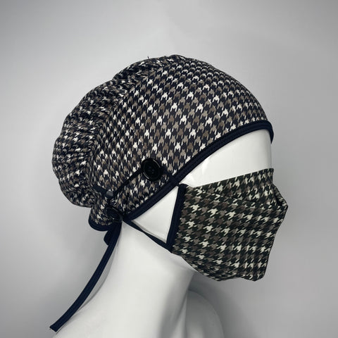Matching Bouffant Set (Houndstooth)