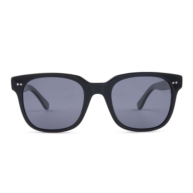 Mari & Clay Sustainable Sunglasses Glenelg Style in Black frame with grey lenses