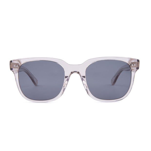 Mari & Clay Sustainable Sunglasses Glenelg Style in transparent sand frame with grey lenses
