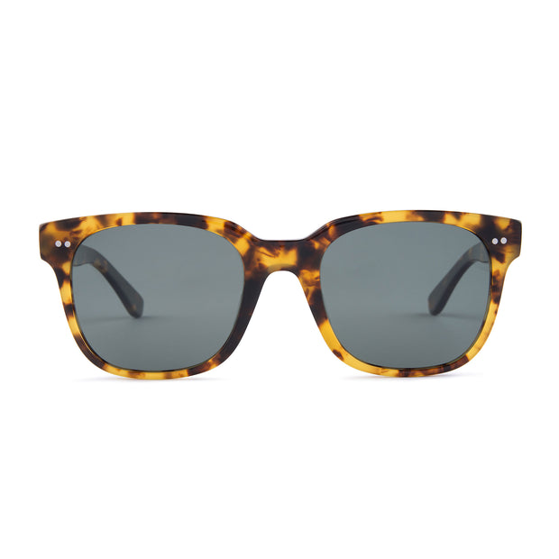 Mari & Clay Sustainable Sunglasses Glenelg Style in Tortoise shell frame with dark green lenses