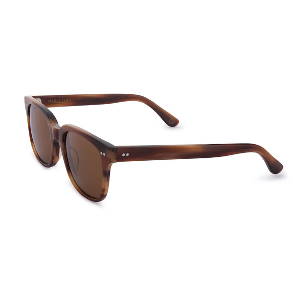 Mari & Clay Sustainable Sunglasses Glenelg Style in Caramel frame with brown lenses