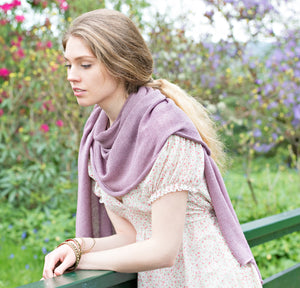 Samantha Holmes Alpaca Knitted Travel Shawl & Pillow
