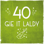 Load image into Gallery viewer, 'Gie it Laldy' Age 30 - 80 Birthday Cards by Truly Scotland