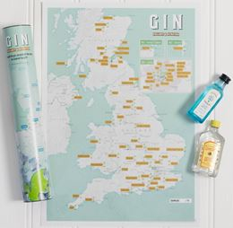Gin Collect & Scratch Print Map
