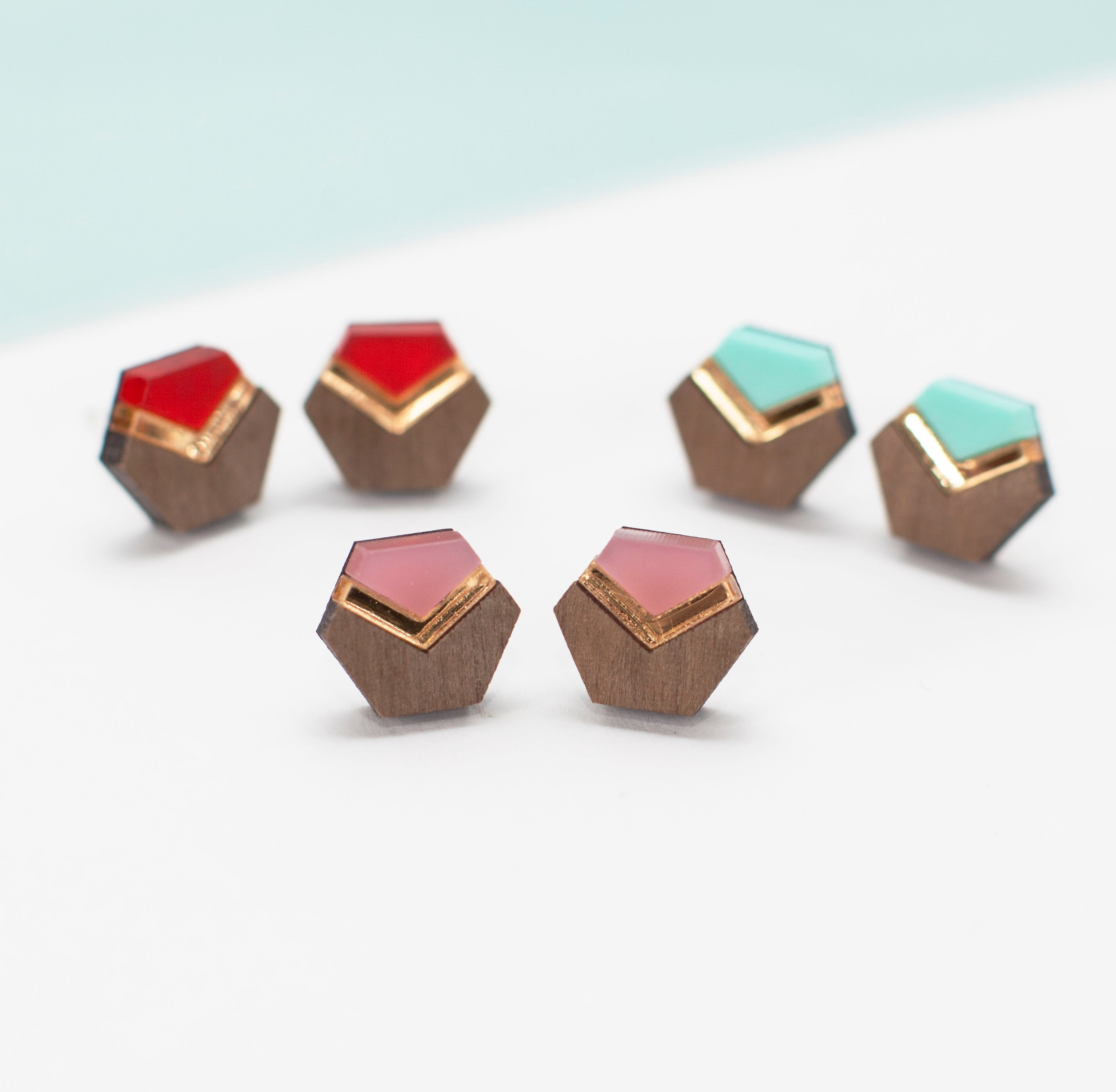 Hex Chevron Studs Made In Scotland by Twiggd