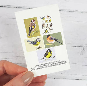 Garden Birds Card Set (5 Cards) Illustrated by Louise Jennifer Design