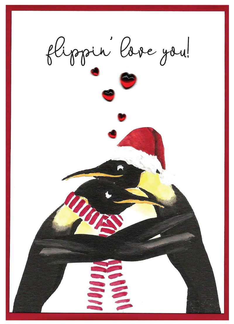 Romantic 'Cranberry Sauce' Christmas Cards by Cinnamon Aitch