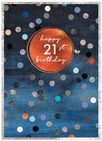 Load image into Gallery viewer, Cobalt Age Birthday Cards 21 - 70 yrs