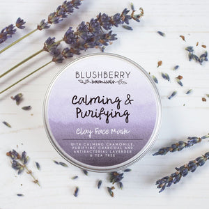 Clay Face Mask Made in Scotland by Blushberry Botanicals Vegan Friendly