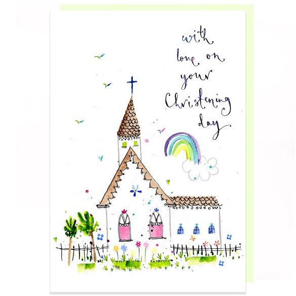 Christening Day Card by Louise Mulgrew