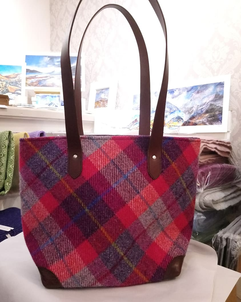 Harris Tweed Large Tote Handbag - Made in Scotland By Clare O`Neil Textiles