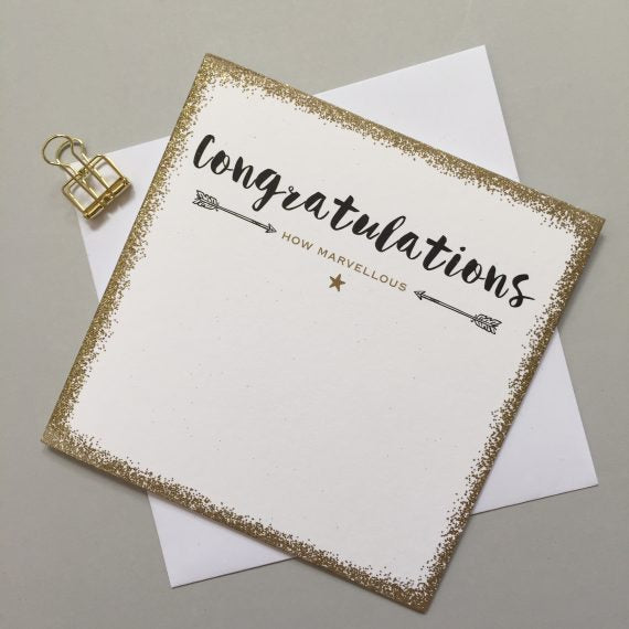 Congratulations Sparkle Card by Always Sparkle
