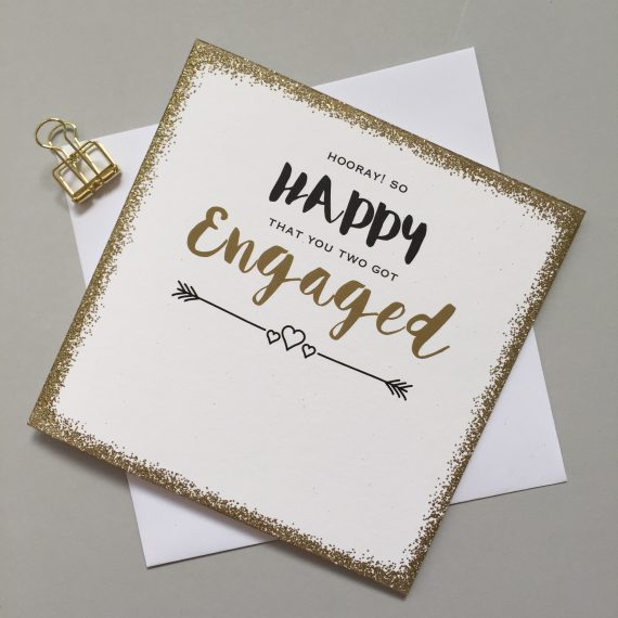 Engaged Sparkle Card by Always Sparkle