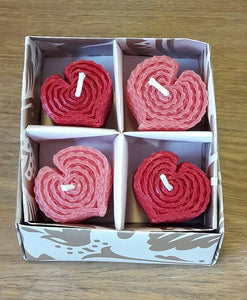Big Heart Candles Gift Box Made in Scotland by Beesy`s Beeswax Candles