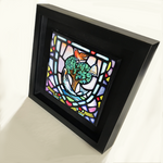 Load image into Gallery viewer, Glasgow Coat of Arms Framed Ceramic Tile by artist Jim Dinnen