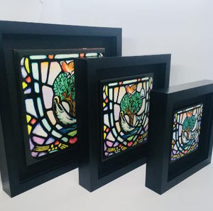 Glasgow Coat of Arms Framed Ceramic Tile by artist Jim Dinnen