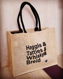 Extra Large Tote Shopper  - Haggis Whisky Tatties Breid