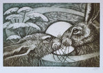 Load image into Gallery viewer, Hare Rectangle Cards by artist Louise Scott