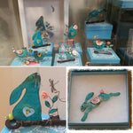 Load image into Gallery viewer, Hanging Robin Ornament Handmade Beastie Assemblage