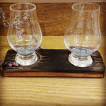 Load image into Gallery viewer, 2 Glass Tasting Tray made from Upcycled Whisky Barrels