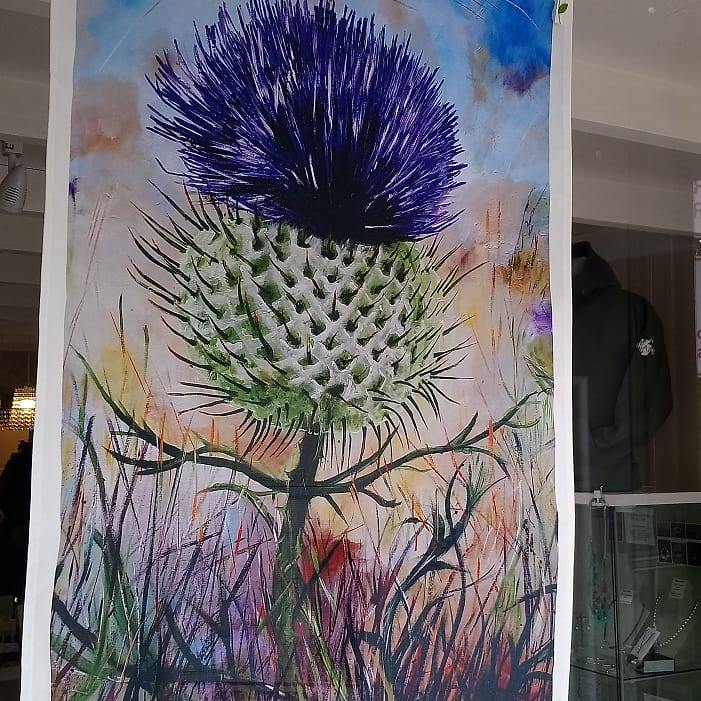 Geoff Foord Thistle Tea Towel