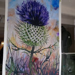 Load image into Gallery viewer, Geoff Foord Thistle Tea Towel