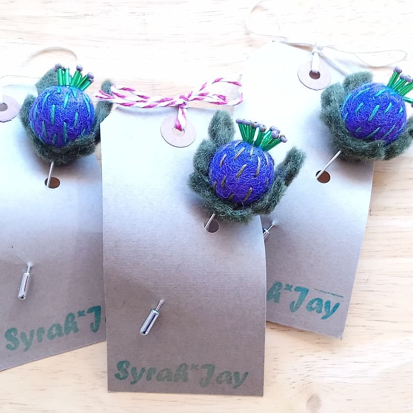 Thistle Pin Handmade by Syrah Jay