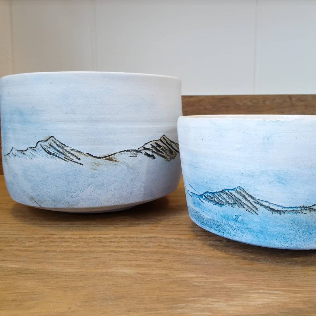 Eleanor Caie Landscape Ceramic Vessel