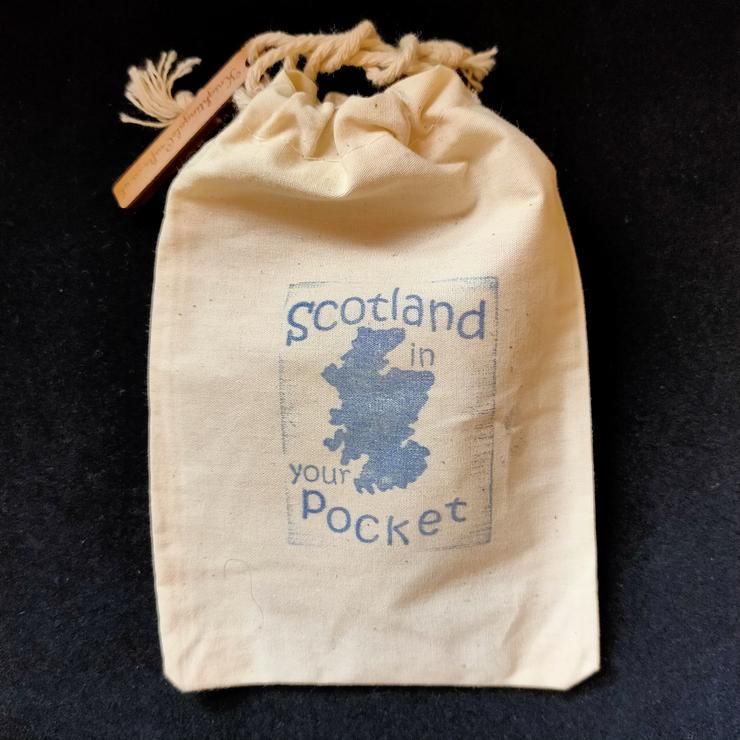 Scotland in your Pocket Wooden Puzzle Bag Made in Scotland by Knightingale Crafts