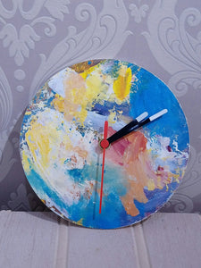 Artist Palette Clock by Julie Arbuckle