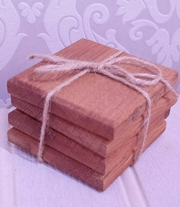Rezawood Set of 4 Whisky Barrel Coasters Made in Scotland
