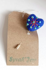 Load image into Gallery viewer, Heart Felted Pin Handmade by Syrah Jay