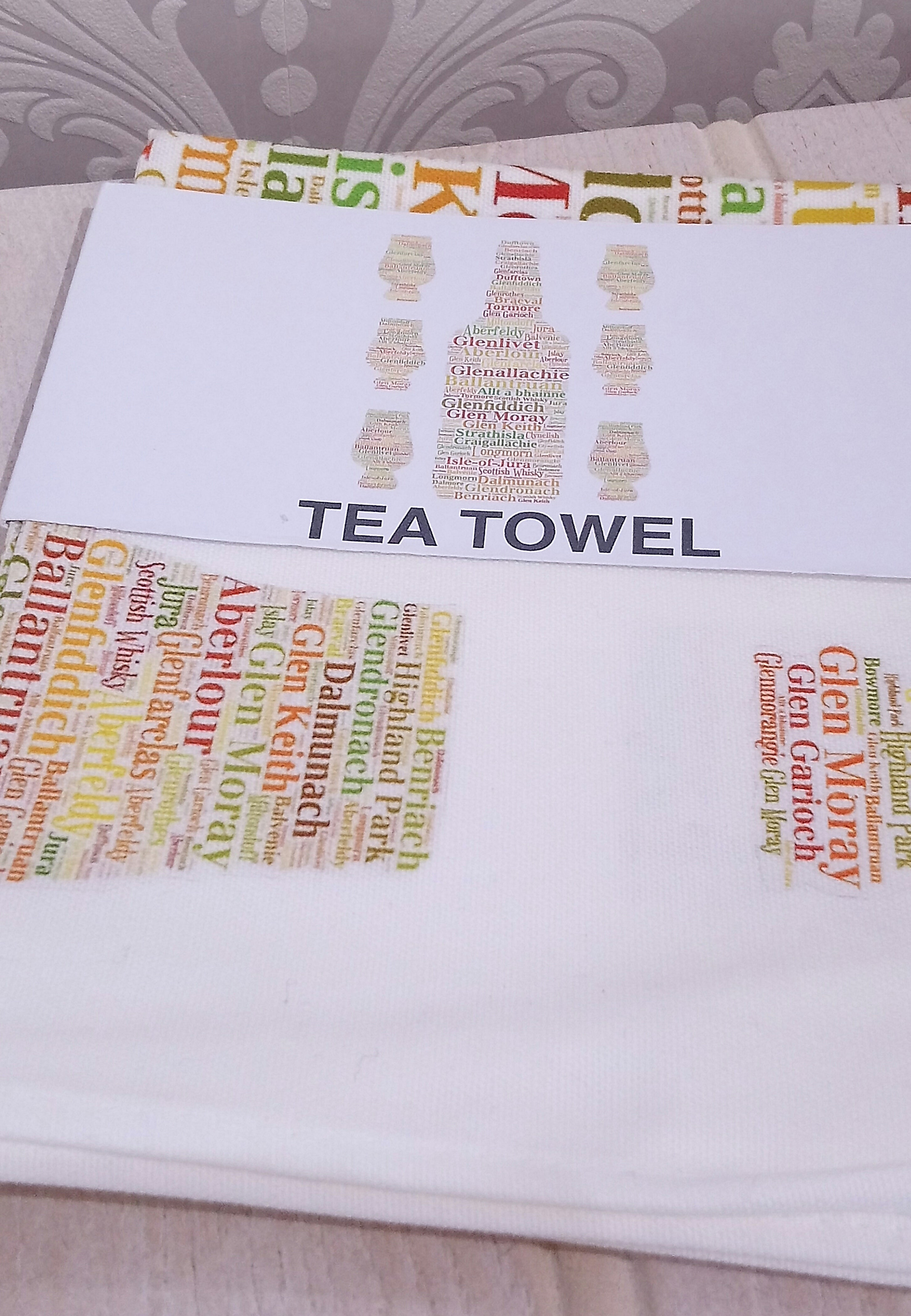 Wordart Tea Towel