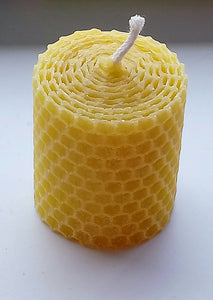 Small Church Candle Made in Scotland by Beesy`s Beeswax Candles