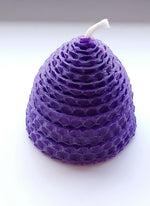 Load image into Gallery viewer, Wee Skep Candle Made in Scotland by Beesy`s Beeswax Candles