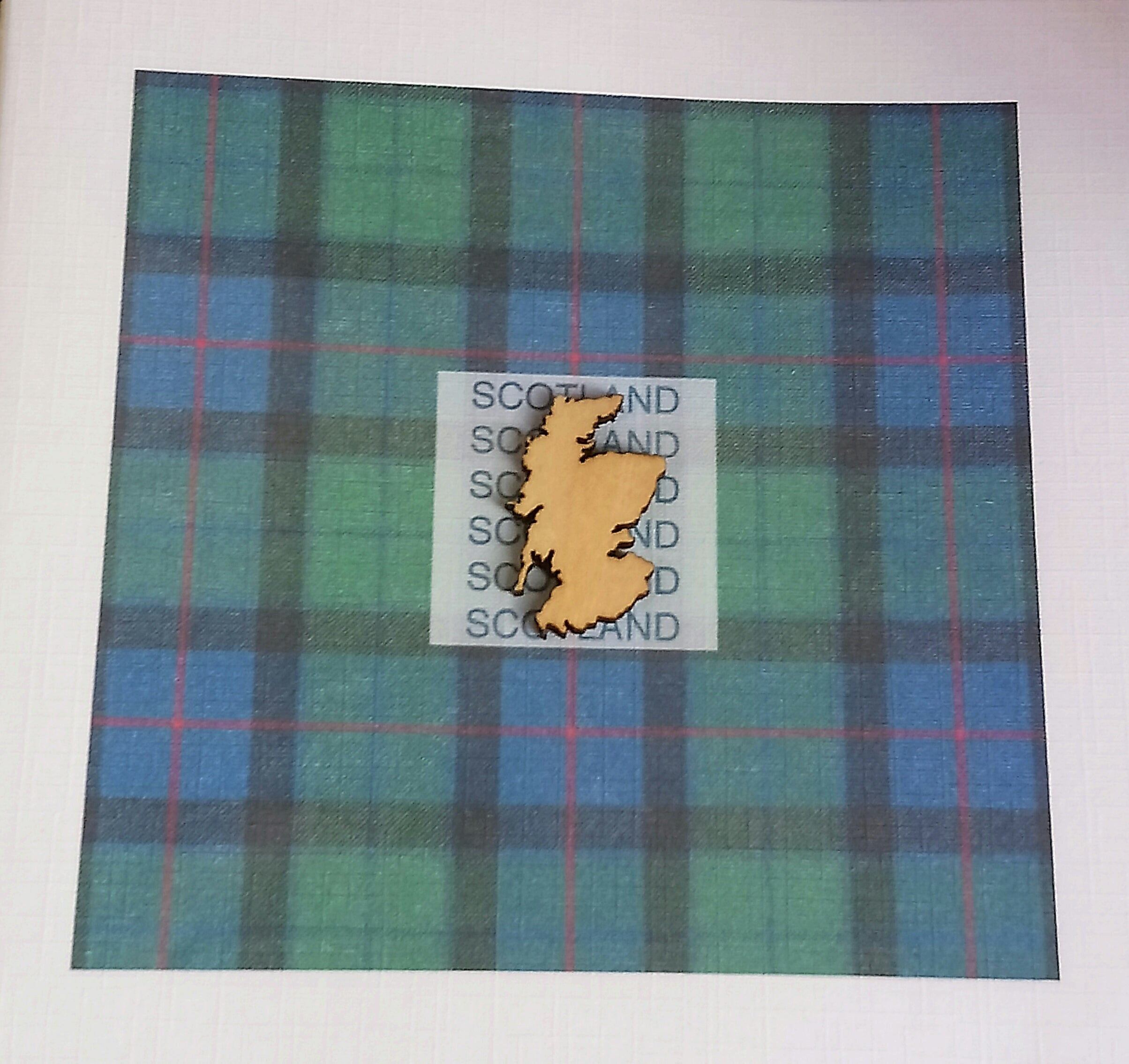 Scottish Tartan Cards by Word Art