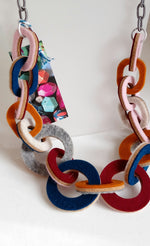 Load image into Gallery viewer, Strata Multi Coloured Long Necklace by Syrah Jay
