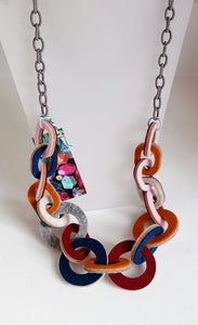Strata Multi Coloured Long Necklace by Syrah Jay