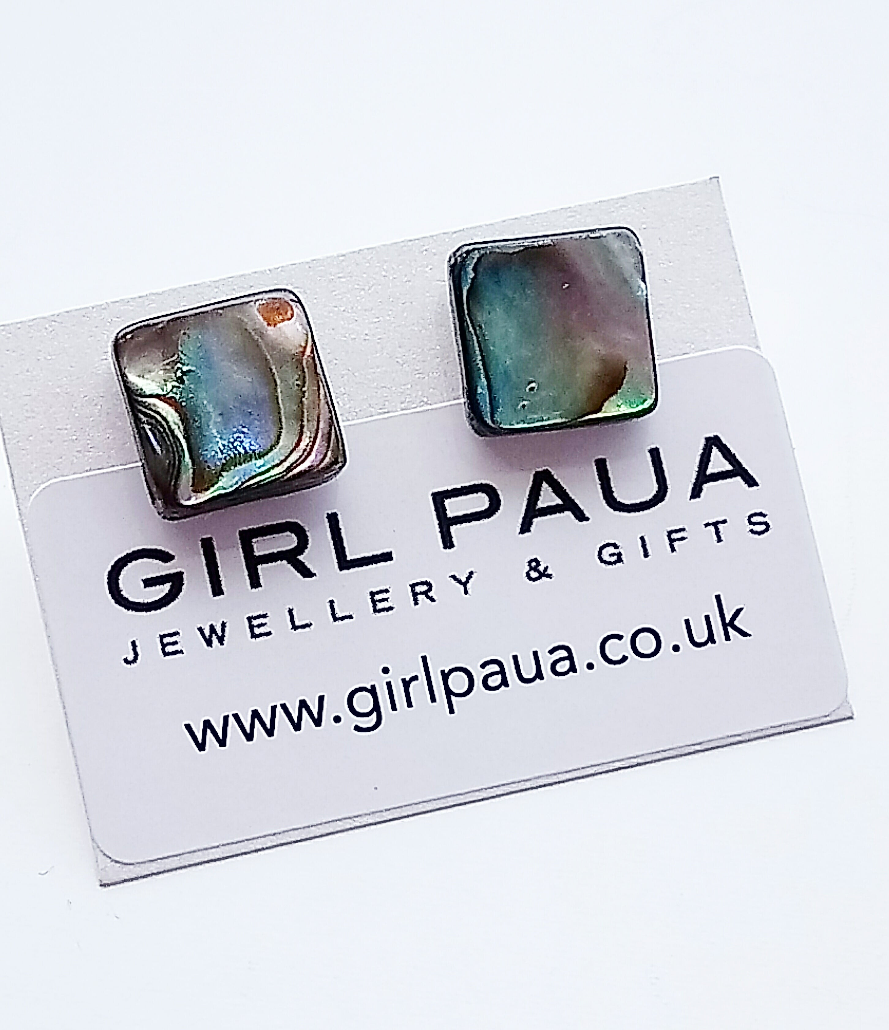 Paua Bead PE04 £16 Stud Earrings Made by Girl Paua