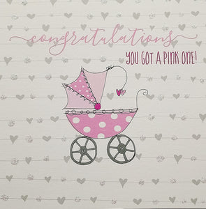 Dandelion SQ Baby Girl Card