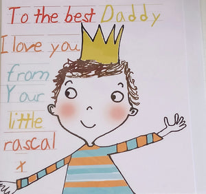 Best Daddy SQ Card - Boy by Liz and Pip