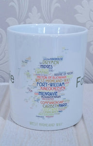 WordArt Scottish Mugs