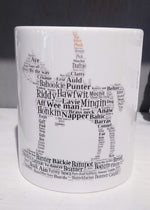 Load image into Gallery viewer, WordArt Scottish Mugs