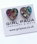 Load image into Gallery viewer, Paua Bead PE04 £16 Stud Earrings Made by Girl Paua