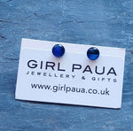 Load image into Gallery viewer, PE04 £14 Paua Stud Earrings Made by Girl Paua