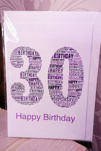 30th Birthday Word Art Rectangle cards