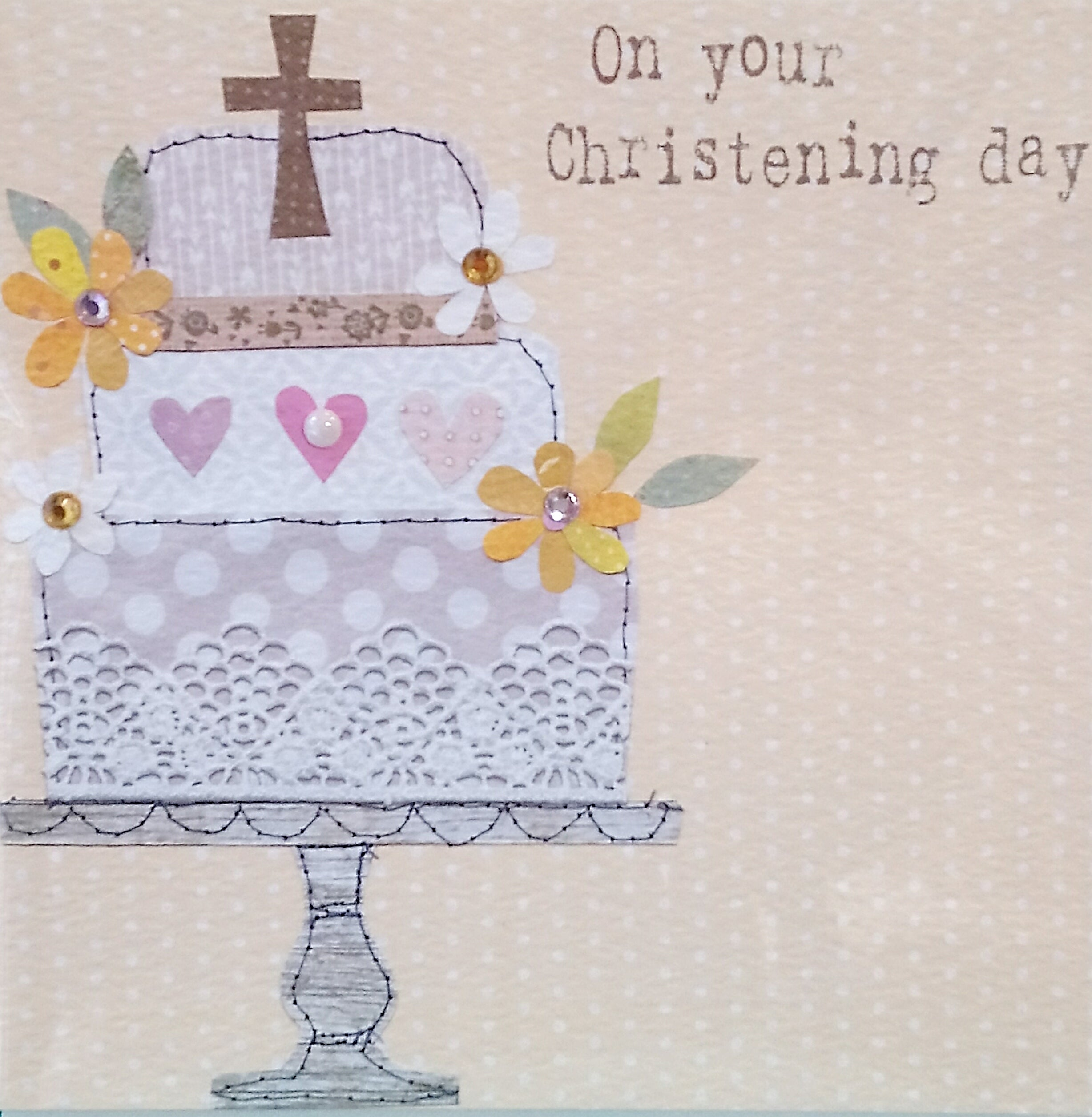 Christening Day Card by Georgia Breeze