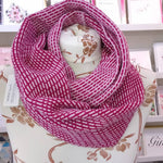 Load image into Gallery viewer, 'Morse' Long Cowl 100% Lambswool  Made in Scotland by Olive Pearson Designs