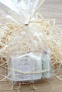 Alba Rose Gift Set: Handmade Soap / Bath Salts (15ml Vial) Made in Scotland by Gra Skincare